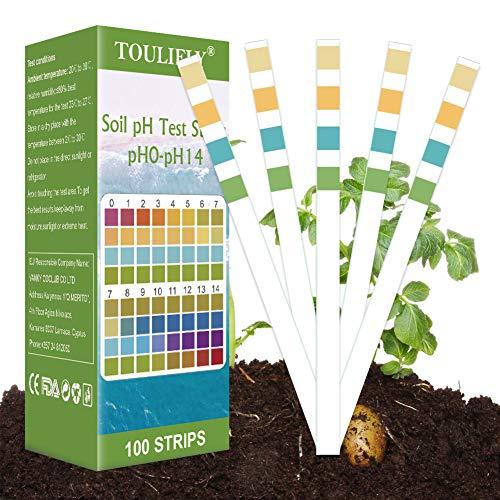 TOULIFLY Soil Test Kit,Soil pH Test Kit,Soil Test Strips,Soil Testing Kit,Soil pH Test Strips,Soil Testing Strips,pH Strips for Testing Soil, for Home and Garden, Lawn, Farm, Plants