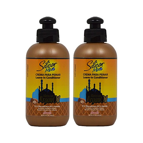 Silicon Mix Moroccan Argan Oil Leave-In Conditioner 8oz'Pack of 2'
