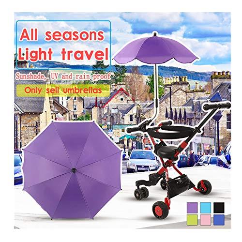 Houshelp Adjustable Umbrella Removable Umbrella Holder Umbrella Baby Stroller Umbrella Stroller Cover Parasol for Sun Rain Protection UV Ray Umbrella 8 bones190T