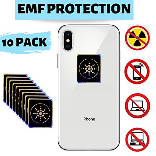 PureGoods EMF Protection Cell Phone for Radiation - Neutralizer Sticker Shield Blocker - Anti EMF for All Electronics Laptops, Tablets, TVs - 10 Pack Bundle Sale!!