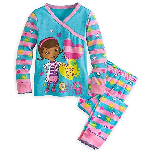 Disney Store Doc McStuffins Girl 2PC Long Sleeve Tight Fit Cotton Pajama Set Size 7