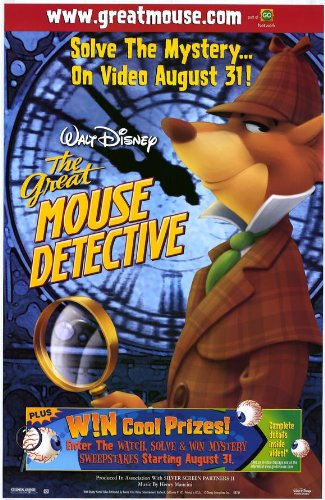 The Great Mouse Detective Movie Poster (27 x 40 Inches - 69cm x 102cm) (1986) Style B -(Vincent Price)(Barrie Ingham)(Val Bettin)(Susanne Pollatschek)(Candy Candido)(Eve Brenner)