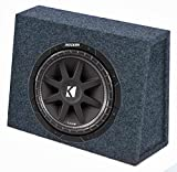Kicker 10C104 10' 300W 4-Ohm Car Audio Subwoofer Sub + Slim Shallow Truck Box