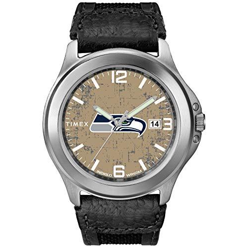 Timex Men's TWZFSEAMC NFL Old School Seattle Seahawks Watch