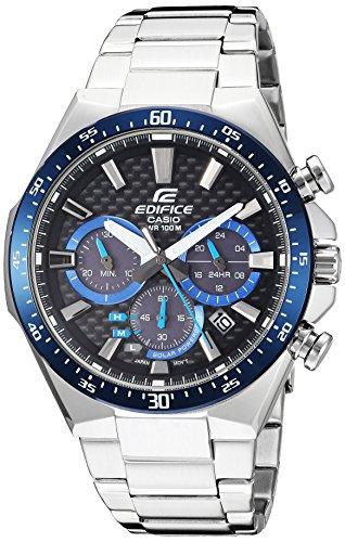 Casio Men's Edifice Quartz Watch with Stainless-Steel Strap, Silver, 20 (Model: EQS-800CDB-1BVCF)