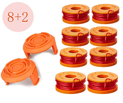 LEIMO Trimmer Spool Line for Worx,Edger Spool Compatible with Worx Trimmer spools Weed Eater String,Trimmer Line Refills 0.065 inch for Electric String Trimmers,Weed Wacker Spool Replacement Parts