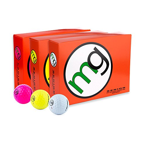 MG Golf Balls Senior Longest with Speed, Distance, Maximum Enjoyment (1-Dozen)