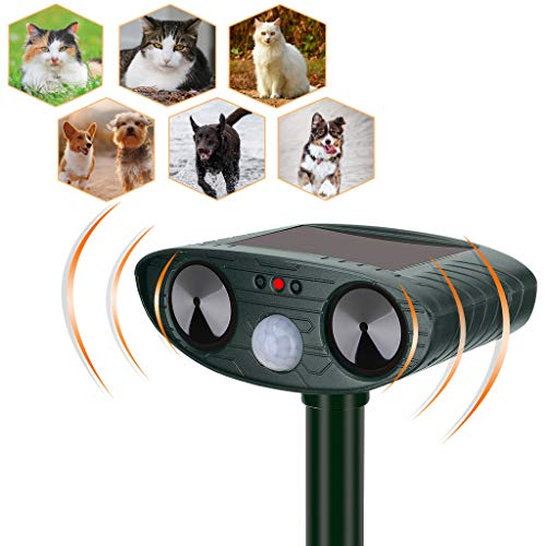 YARDPRO Ultrasonic Cat Repellent Outdoor – Solar Powered Animal Repeller – Non Toxic Dog Repellent, Cat Deterrent Devices, and Deer Repellent