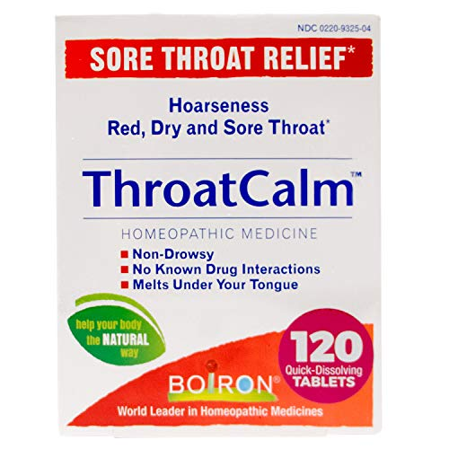 Boiron Throatcalm Tablets for Sore Throat Relief, 120 Count