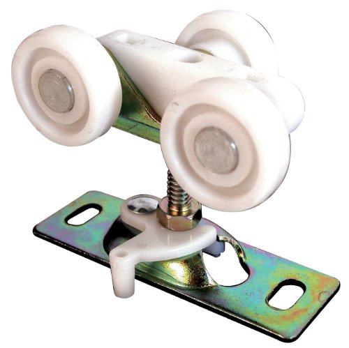 Prime-Line Products N 6847 Pocket Door Roller Assembly, 3/4 in., FLAT, Plastic Wheels on Steel Bracket (Pack of 2)