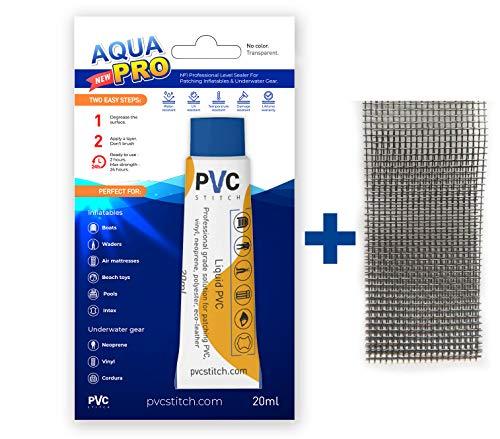 AquaPro Liquid Patch Waterproof Repair Kit for Vinyl Inflatable & Underwater Gear   Sealer +Cord  