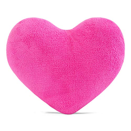 YINGGG Cute Plush Red Heart Pillow Cushion Toy Throw Pillows Gift for Kids' Friends/Children/Girl/Valentine's Day Fit for Living Room/Bed Room/Dining Room/Office and Sofa/Cars/Chairs (Rose Red)