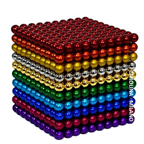1000 pcs 5mm 10 Colors Magnetic Balls Multicolored Large cube Building Blocks Sculpture Educational Game Fun Office Toy Intelligence Development Stress Relief Imagination gift variation B