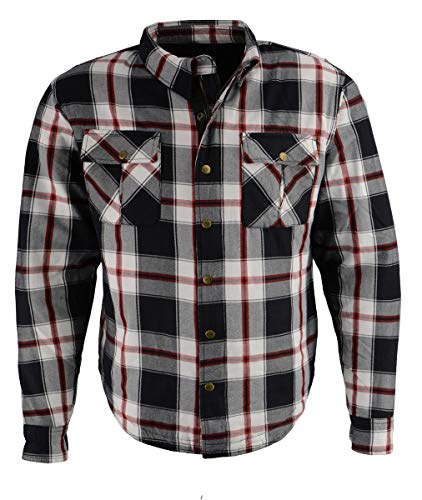 Milwaukee Performance MPM1625 Men's Armored Flannel Shirt with Aramid by DuPont Fibers - Large