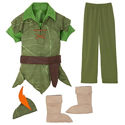 Disney Peter Pan Costume for Kids Size 7/8 Green