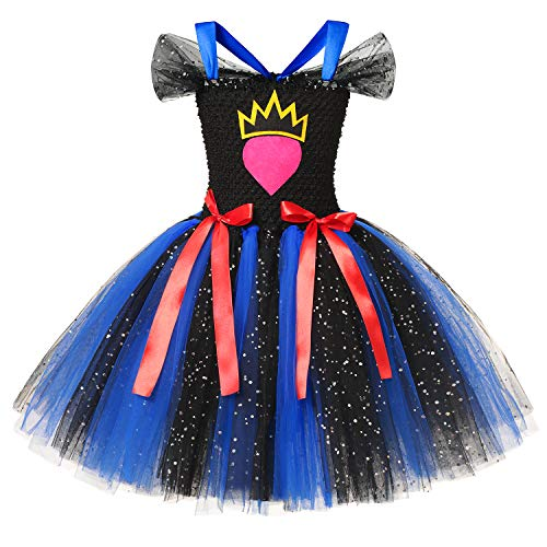 YOFEEL Little Girls Cosplay Costume Tutu Dress for Halloween Party Black