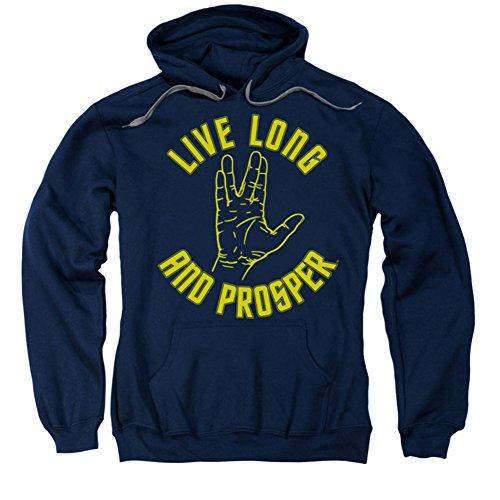 Hoodie: Star Trek - Live Long Hand Pullover Hoodie Size XL