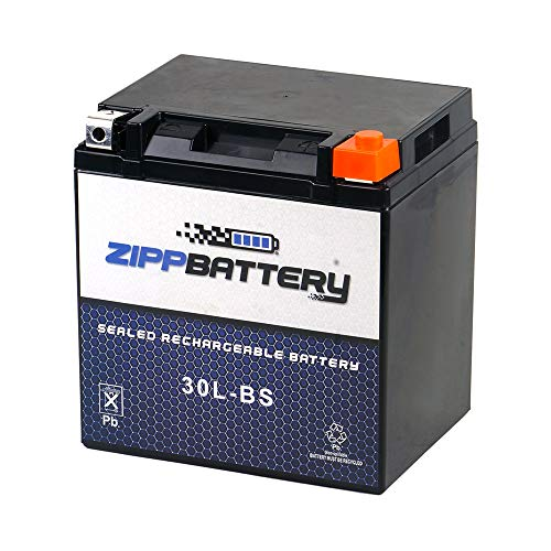 Chrome Battery 30L-BS - High Performance Power Sports Battery, AGM, Factory Sealed