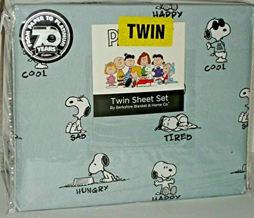 Peanuts The Personalities of Snoopy Twin Sheet Set by Berkshire in Slate Blue