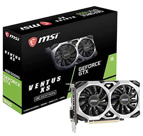 MSI G1650VXS4C Gaming GeForce GTX 1650 128-Bit HDMI/DP 4GB GDRR5 HDCP Support DirectX 12 VR Ready OC Graphics Card (GTX 1650 Ventus XS 4G OC)