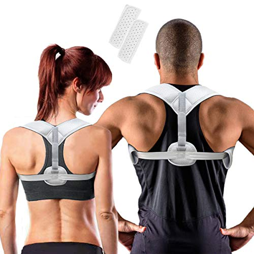Posture Corrector for Women & Men, Sixport, Invisible Kyphosis Brace, Adjustable & Comfortable Scoliosis Back Humpback Correction Belt