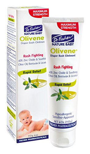 Olivene Baby Diaper Rash Ointment by Dr. Fischer- 113 gr/ 4 oz. - Clinically Proven to be Effective in reducing Skin Irritation, Redness and recurrent Rash Symptoms. Exclusive Baby Rash Cream!