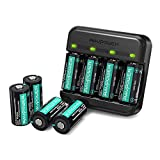 CR123A Lithium Batteries RAVPower 8 Pack 3.7V 700mAh [CAN BE RECHARGED] Protected Batteries for Arlo Security Wireless Cameras VMC3030 VMK3200 VMS3330 3430 3530 and Flashlight Polaroid Microphone