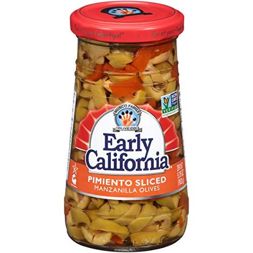 Early California 5.75 oz. Pimiento Sliced Manzanilla Olives, 6-Jars