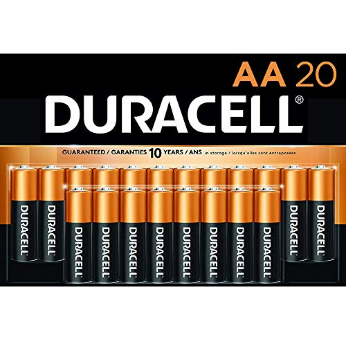 Duracell - CopperTop AA Alkaline Batteries - long lasting, all-purpose Double A battery for household and business - 20 Count