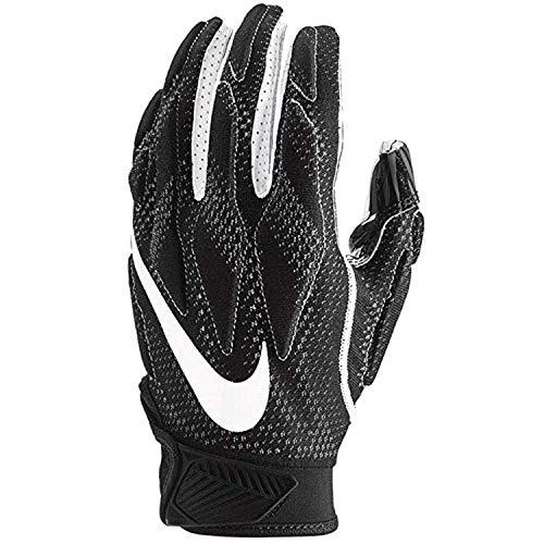 Nike Mens Superbad Sticky Magnigrip Receiver Football Gloves - Black White - Medium