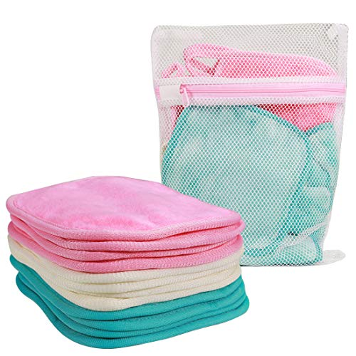 "NATWAG | Reusable Update Makeup Remover Microfiber Cloth for Sensitive Skin | Microfiber Face Cloth Makeup Remover | Washable Makeup Remover Towels | Natural Facial Cleansing Towels (6""x 6"", 12 Pack, Assorted)"