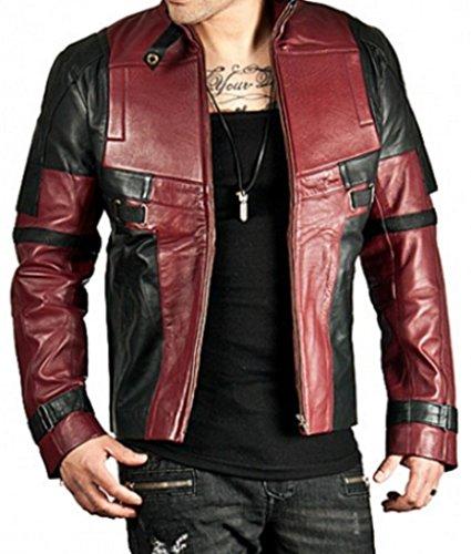 Deadpool Wade Wilson Real Leather Jacket (L) Maroon