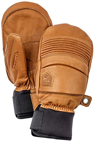 Hestra Leather Fall Line - Short Freeride Snow Mitten with Superior Grip for Skiing and Mountaineering - Cork - 9