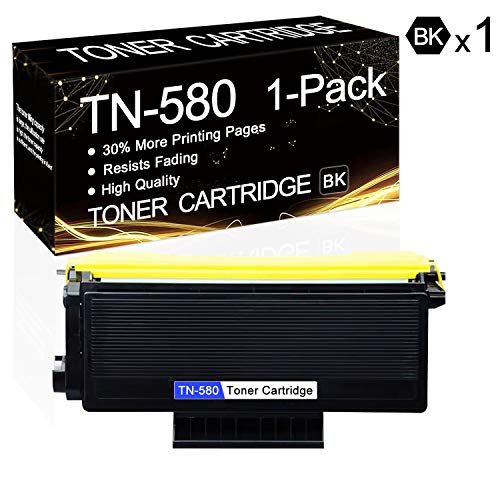1 Pack TN-580 Black TN580 High-Yield Toner Compatible Toner Cartridge Replacement for Brother HL-5240 HL-5250DN HL-5250DNT HL-5270DN MFC-8370 MFC-8460N MFC-8670DN DCP-8060 DCP-8065DN Printers.