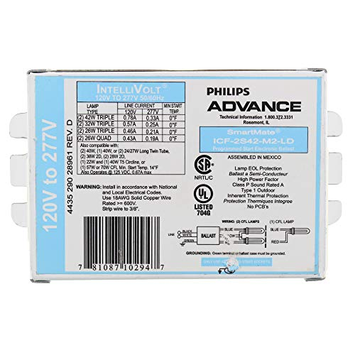 Philips Advance ICF-2S42-M2-LD SmartMate Advance IntelliVolt Ballast