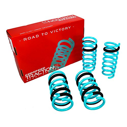 Godspeed LS-TS-II-0001-A Traction-S Performance Lowering Springs, Reduce Body Roll, Improved Handling, Set of 4, compatible with Infiniti G35 Coupe (V35) 2003-2007 (RWD)