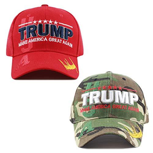 The Hat Depot Exclusive Donald Trump Keep America Great/Make America Great Again 3D Signature Cap (USA Combo - WDCM)