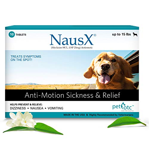 PET OTC NausX Anti Nausea/Motion Sickness Treatment and Preventative for Dogs (Up to 15lbs)