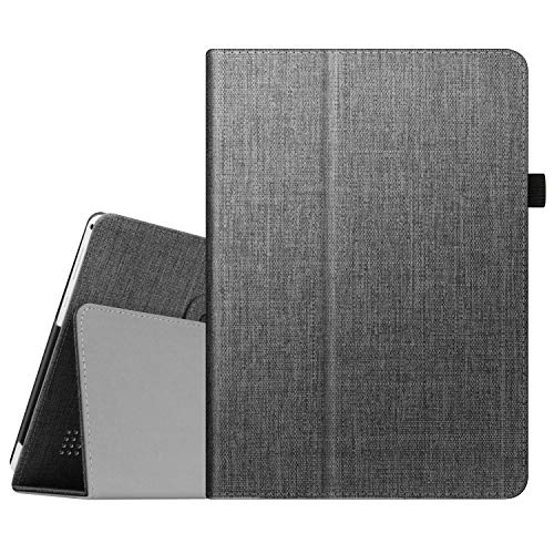 Fintie Case for Dragon Touch 10 inch K10 / Notepad K10 / Max10 Plus/ZONKO K105 10.1 Tablet, Premium PU Leather Stand Cover for Lectrus, Victbing, Hoozo, Winsing 10 Android Tablet (Charcoal)