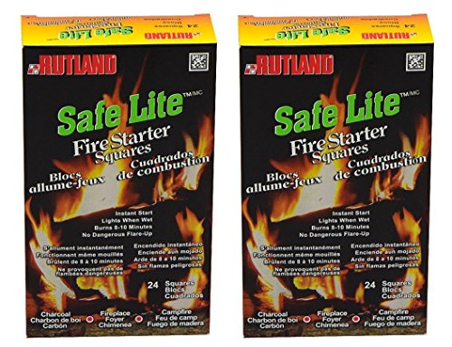 Rutland Products Safe Lite Fire Starter Squares, 24 Squares - 50C
