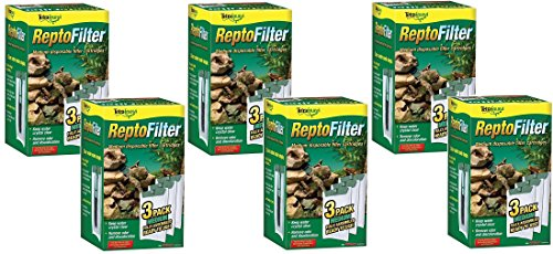 Tetra ReptoFilter Filter Cartridges, Medium, 18 Total Cartridges (6 Packs with 3 per Pack)