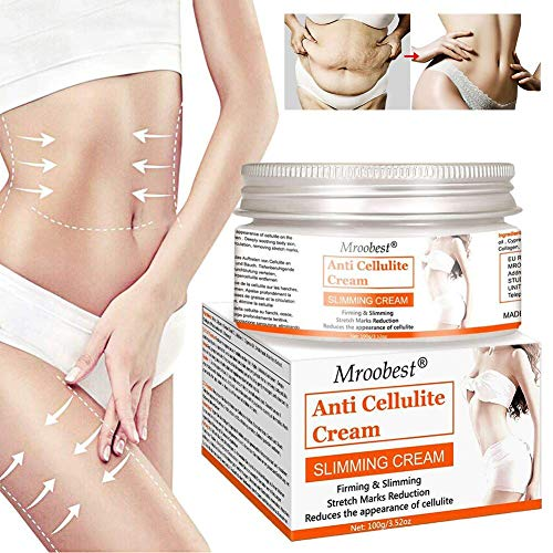 Anti Cellulite Cream, Slimming Cream, Hot Cream, Organic Body Slimming Cream, Natural Cellulite Treatment Cream for Thighs, Legs, Abdomen, Arms and Buttocks, for Body Sculpting
