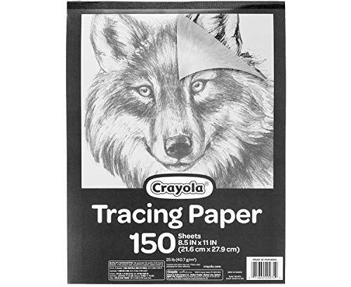 """Crayola Tracing Paper 8 1/2"""" X 11"""", Great for Light Up Tracing Pad, Gift, 150Count, Multicolor, Model:"""