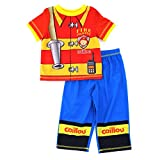 Caillou Toddler Red Poly Pajamas (2T)