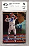 1998 Flair Showcase Row 2#3 Peyton Manning Rookie Card Graded BCCG 9