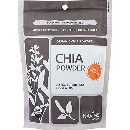 Navitas Naturals Chia Seed Powder - Organic - 8 oz - case of 12 - 95%+ Organic - Yeast Free - Wheat Free-Vegan
