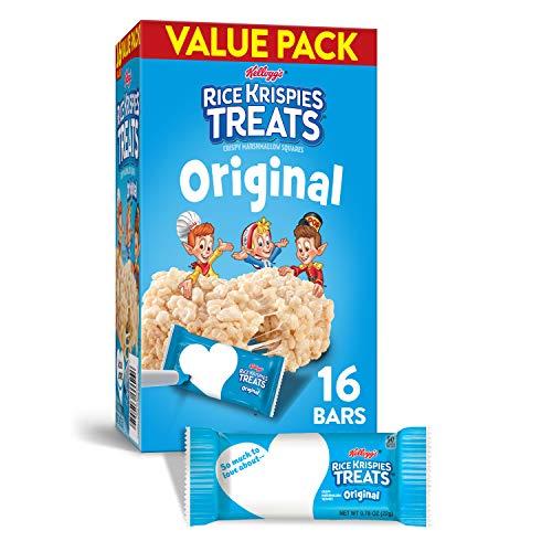 Kellogg's Rice Krispies Treats, Crispy Marshmallow Squares, Original, Value Pack, 12.4oz Box (16 Count)