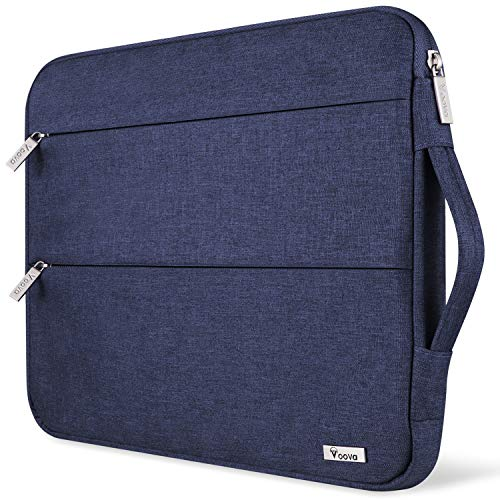 Voova 11.6-12 Inch Laptop Sleeve Chromebook Case Compatible with MacBook Air 11, Mac 12, Surface Pro X/7/6/5/4, Samsung Chromebook 3/4 Acer Asus Protective Tablet Bag with Handle, Water Resistant,Blue