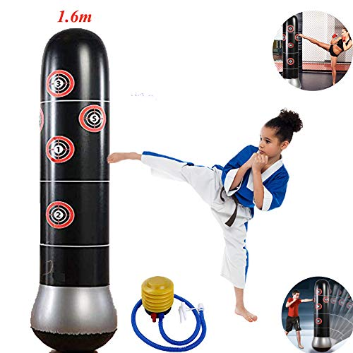 Creamoon 2019 New Fitness Punching Bag Inflatable Punching Bag Freestanding Kicking Bag De-Stress Boxing Target Bag for Childrens Adult 160CM+ Foot Pump