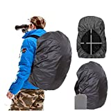 Joy Walker Backpack Rain Cover Waterproof Breathable Suitable for Hiking/Camping/Traveling (Black, Small (for 15-25L Backpack))